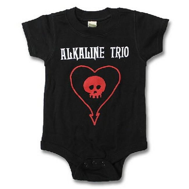 Alkaline Trio Heartskull Baby Romper Shirt