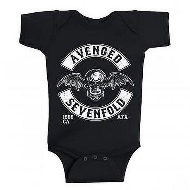 Avenged Sevenfold Deathbat Crest Est. 99 Baby Romper T-Shirt