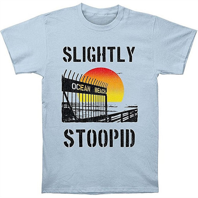 Slightly Stoopid Ocean Beach Gate Men's Slim Fit T-Shirt