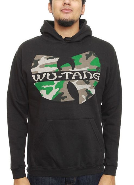 Wu Tang Clan Camo Logo Pullover Hoodie Sweatshirt