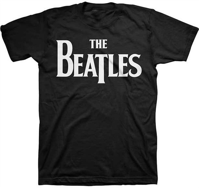 The Beatles Solid Logo T-Shirt