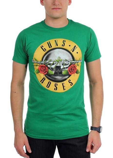 Guns N Roses St. Patrick's Bullet Green T-Shirt