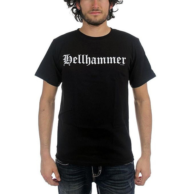 Hellhammer Old English Logo Only Death Is Real T-Shirt