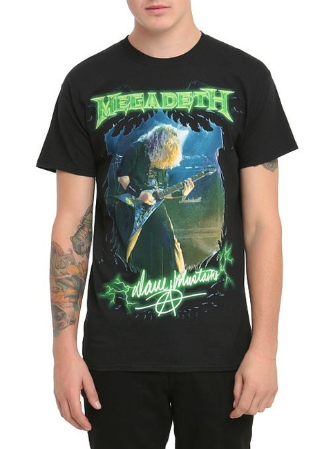 Megadeth Mustaine Photo T-Shirt