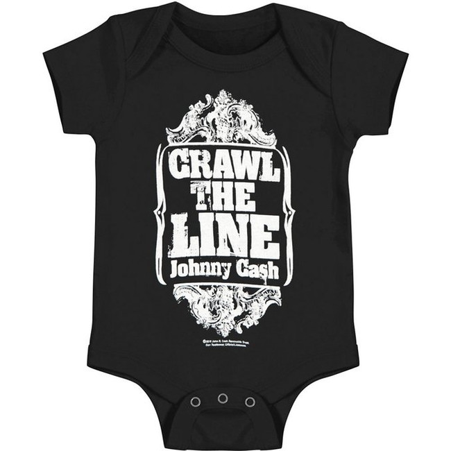 Johnny Cash Crawl The Line Baby Romper T-Shirt