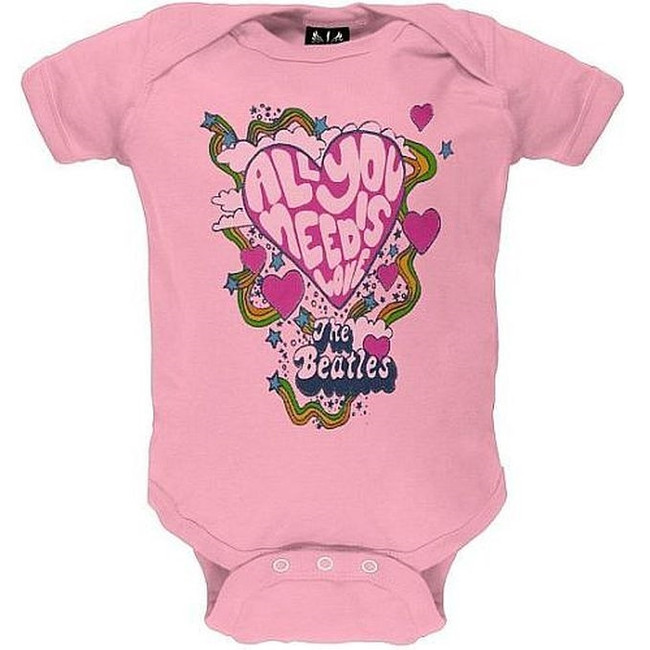 The Beatles All You Need Is Love Baby Romper T-Shirt