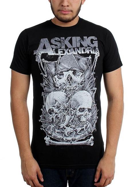 Asking Alexandria Skull Stack Slim T-Shirt