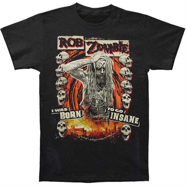 Rob Zombie Born To Go Insane Men's Black T-Shirt