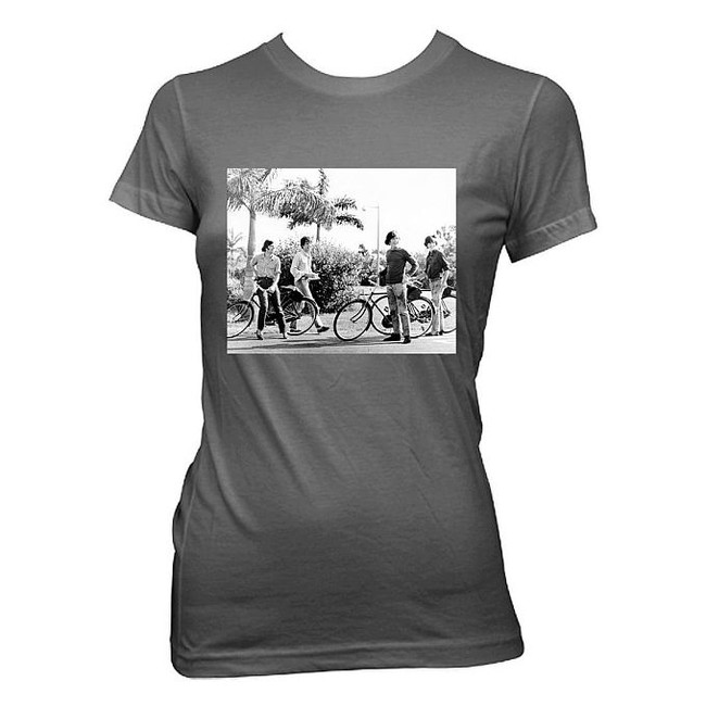 The Beatles Bicycle Group Shot Women's Babydoll T-Shirt