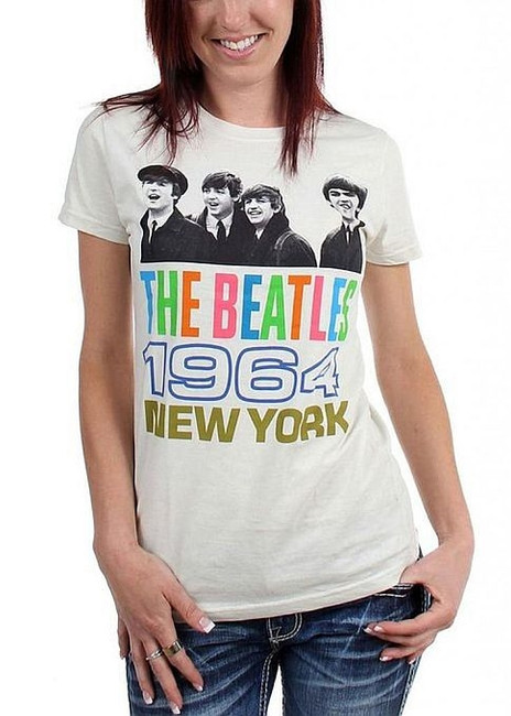 The Beatles 1964 New York Women's Babydoll T-Shirt