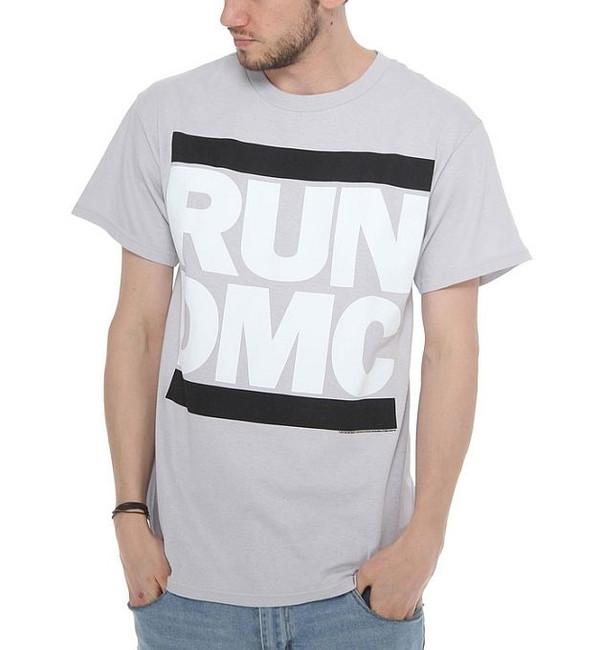 Run DMC Greyscale Logo T-Shirt