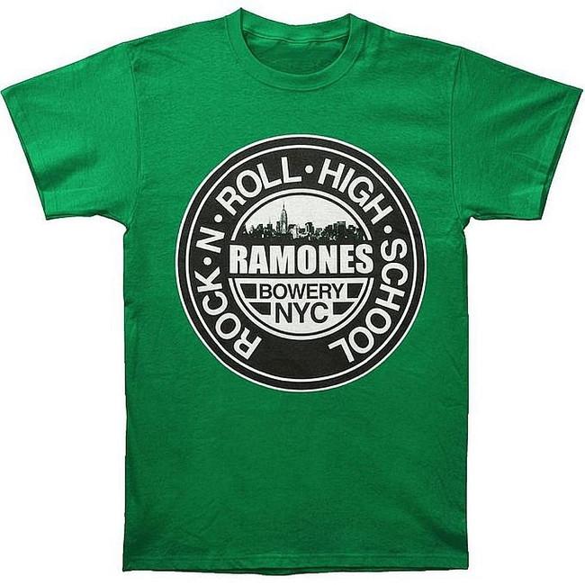 Ramones Green Rock N Roll High School T-Shirt