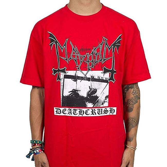 Mayhem Deathcrush Men's Red T-Shirt