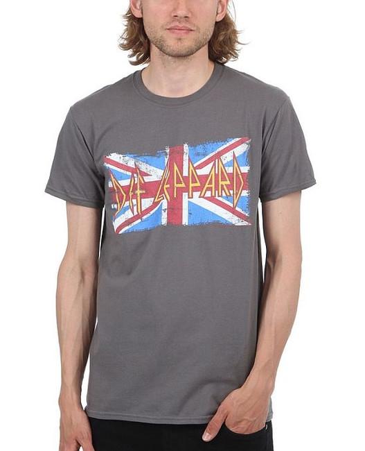 Def Leppard Vintage Union Jack Overdye T-Shirt