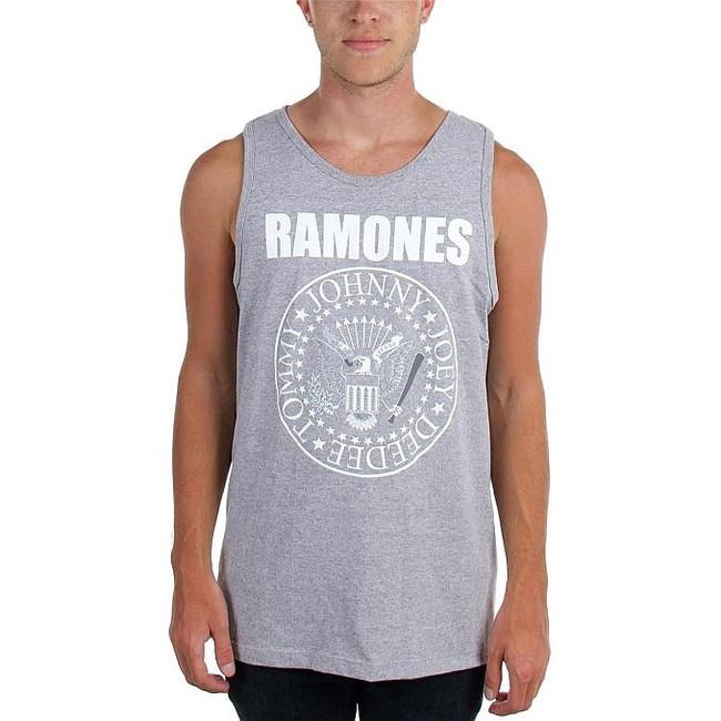 Ramones White Seal Grey Tank Top T-Shirt