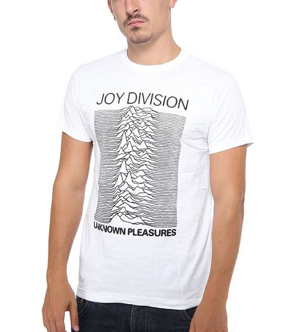 Joy Division Unknown Pleasures on White T-Shirt