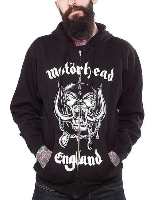 Motorhead England Zip Hoodie Sweatshirt