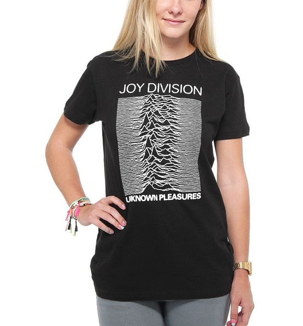 Joy Division Unknown Pleasures Junior Girlie T-Shirt