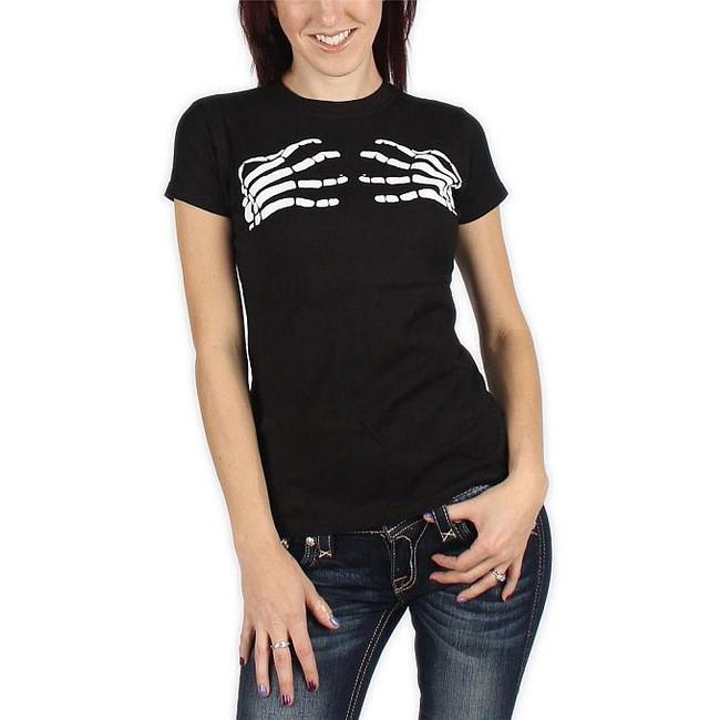 Misfits Skeleton Hands Junior Women's T-Shirt