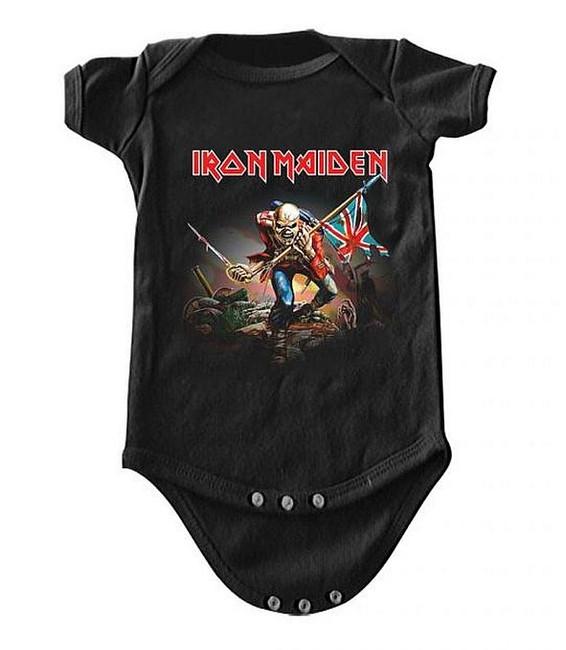 Iron Maiden The Trooper Baby Romper T-Shirt