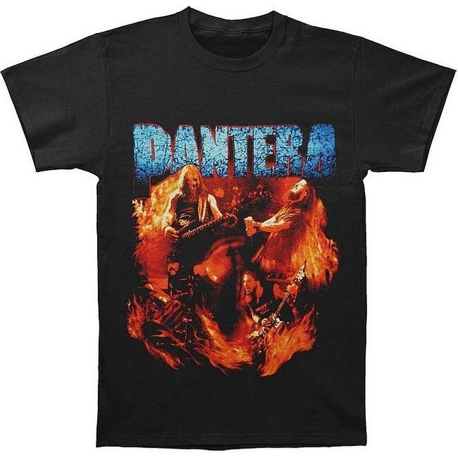 Pantera Band Flames T-Shirt