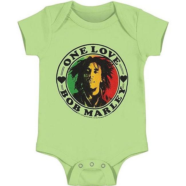 Bob Marley One Love Heart Baby Romper T-Shirt