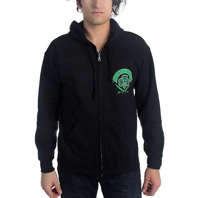 Dropkick Murphys Drinking Skeleton Cross Zip Hoodie Sweatshirt
