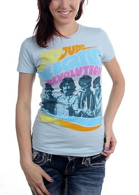 The Beatles Hey Jude Revolution Junior Girlie Babydoll T-Shirt