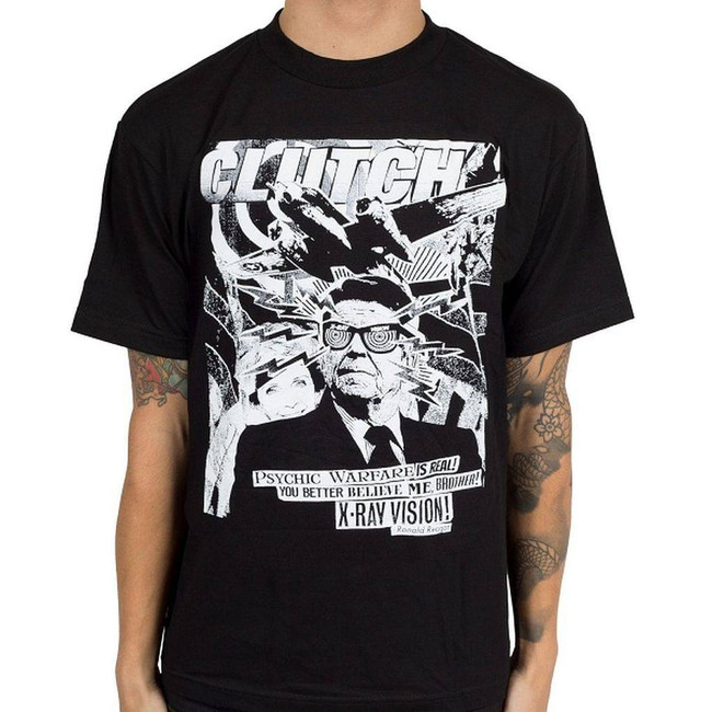 Clutch Uncle Ronnie Men's Black T-Shirt