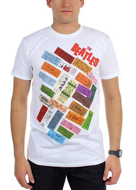 The Beatles Tickets Stacked T-Shirt
