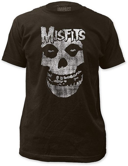 Misfits Distressed Logo Skull T-Shirt