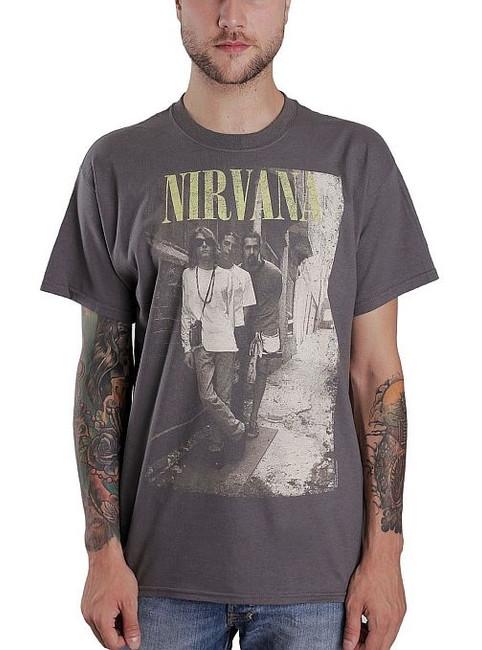 Nirvana Brick Wall Alley Photo T-Shirt