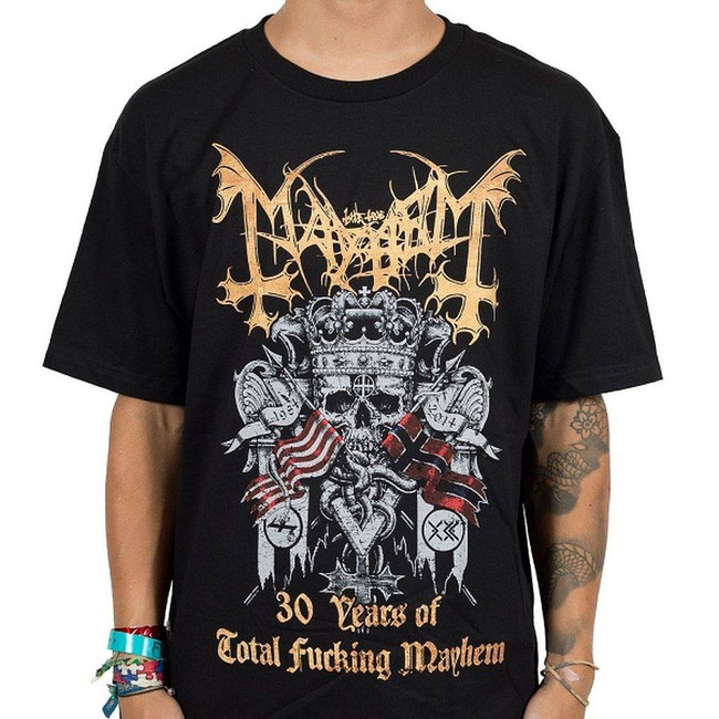 Mayhem 30 Years Men's Black T-Shirt