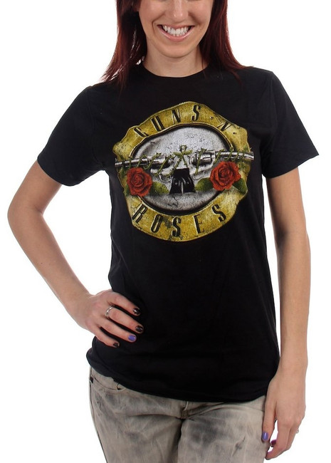 Guns N Roses Distressed Bullet Junior Women's T-Shirt