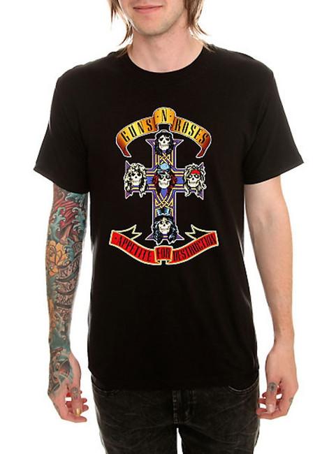 Guns N Roses Cross T-Shirt