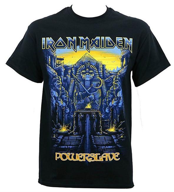 Iron Maiden Dark Ink Powerslave Men's Black T-Shirt