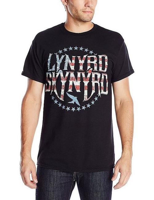 Lynyrd Skynyrd Stars and Stripes Logo T-Shirt