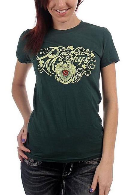 Dropkick Murphys Signed Script Women's Babydoll T-Shirt