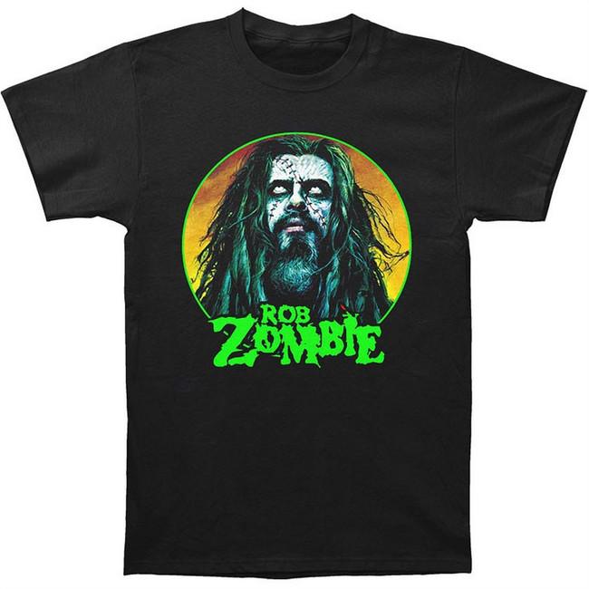 Rob Zombie Face Men's Black T-Shirt