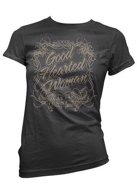 Waylon Jennings Good Hearted Woman Junior Women's T-Shirt