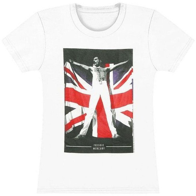 Freddie Mercury Flag Junior Women's T-Shirt