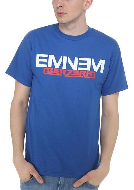 Eminem Royal Blue Berzerk Logo T-Shirt