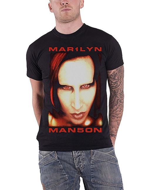 Marilyn Manson Bigger Than Satan Men's T-Shirt Black