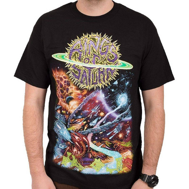 Rings of Saturn Ship Men's Black T-Shirt