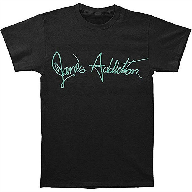 Jane's Addiction Script Logo Men's Black T-Shirt