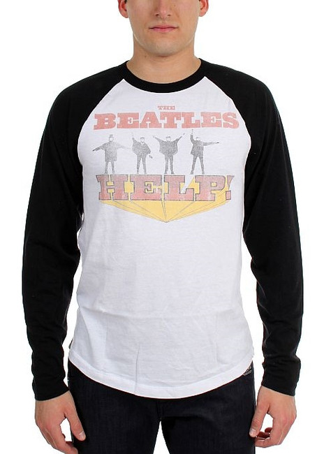 The Beatles Help! Raglan Baseball T-Shirt