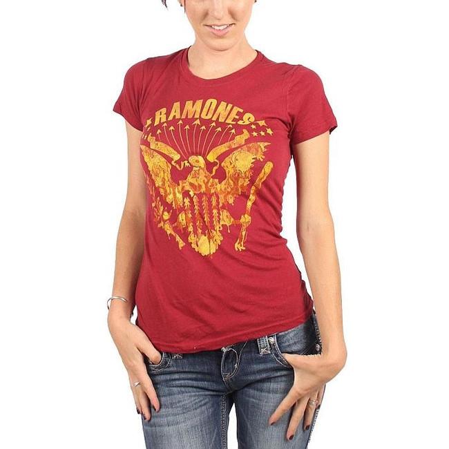 Ramones Eagle Vintage Women's Babydoll T-Shirt