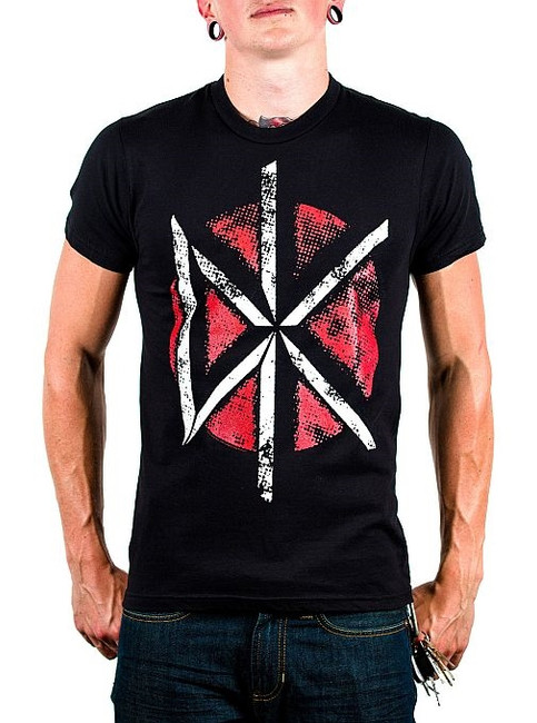 Dead Kennedys Distressed Logo Fitted T-Shirt