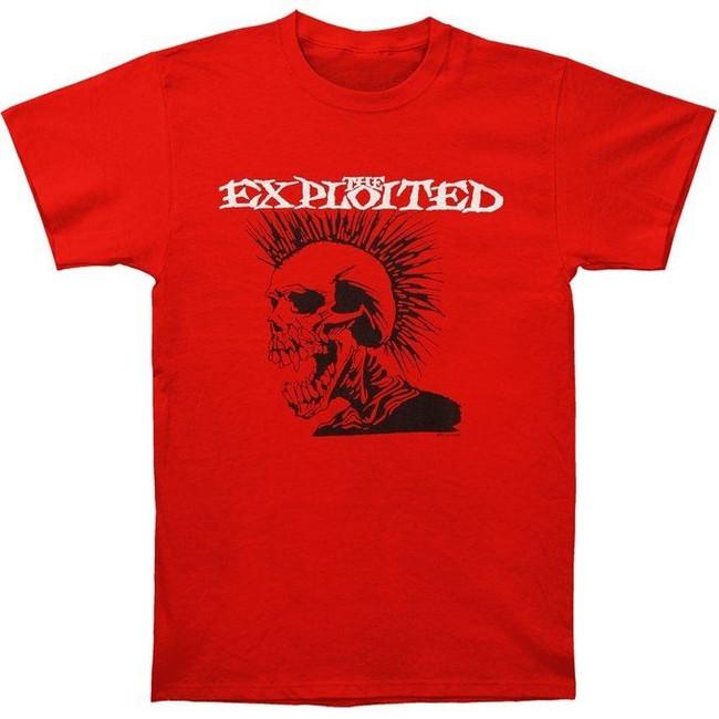 The Exploited Skull Logo Red T-Shirt