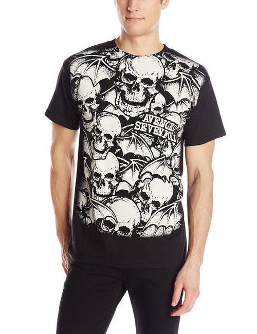 Avenged Sevenfold - A/O White Deathbats T-Shirt